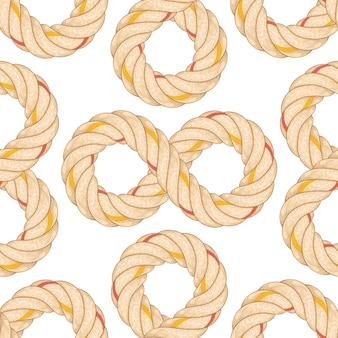 Patrón sin fisuras con la flexión de la cuerda.