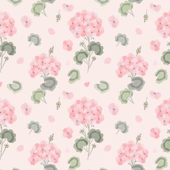 Patrón sin fisuras de flor de geranio