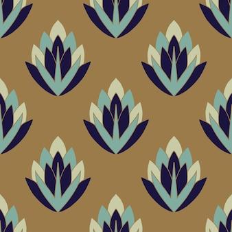 Patrón sin fisuras de flor vintage y diseño de papel tapiz.