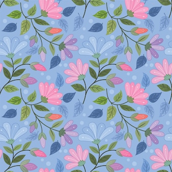 Patrón sin fisuras de flores de colores para papel tapiz textil tela.