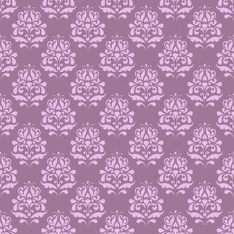 Patrón sin fisuras con flores decorativas - iris.