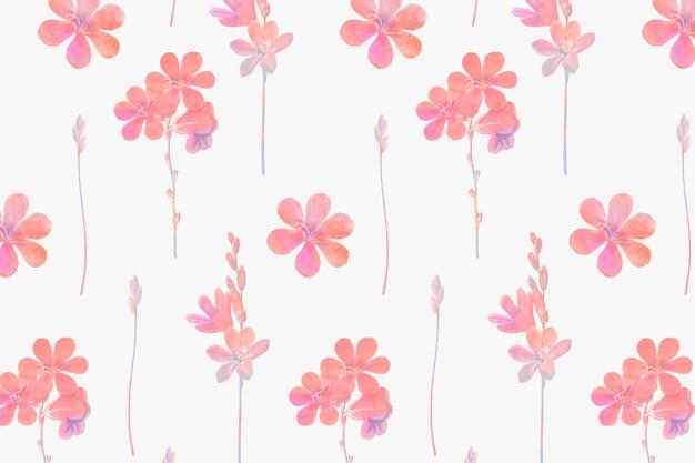 Patrón sin fisuras de flores rosadas