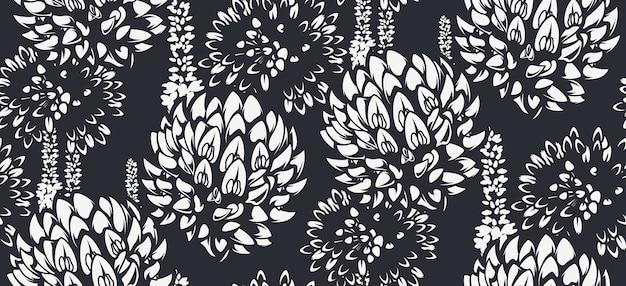 Patrón sin fisuras con flores silvestres para fondo claro. ideal para imprimir para tela, decoración de paredes y muchos otros usos