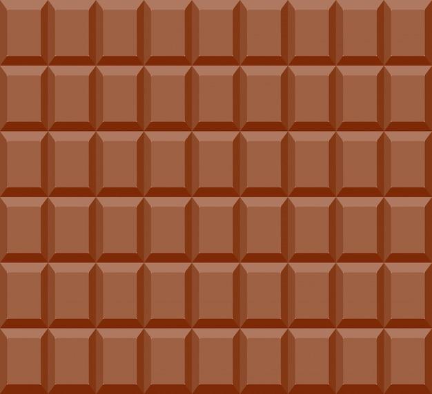 Patrón sin fisuras de fondo barra de chocolate