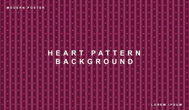Patrón sin fisuras de fondo corazón de san valentín
