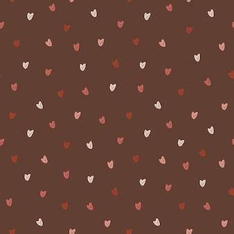 Patrón sin fisuras de fondo de diseño de corazones dibujados a mano