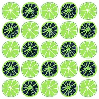Patrón sin fisuras de frutas naranjas con estilo de diferentes colores
