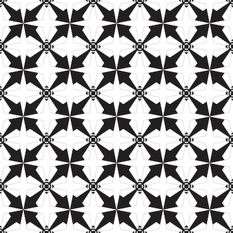 Patrón sin fisuras geométrico fondo blanco y negro.