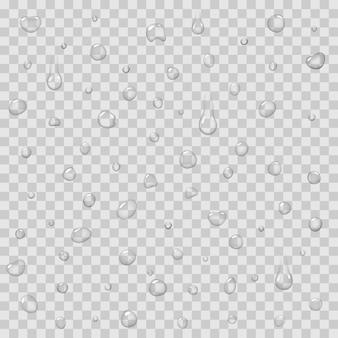 Patrón sin fisuras con gotas de lluvia vector aislado