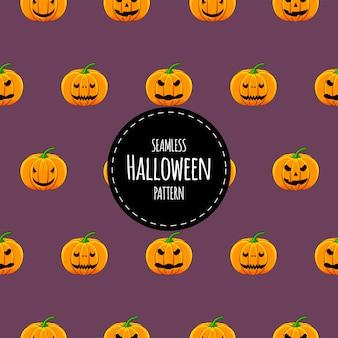 Patrón sin fisuras de halloween con calabazas. estilo de dibujos animados.