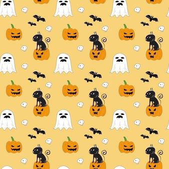 Patrón sin fisuras de halloween.