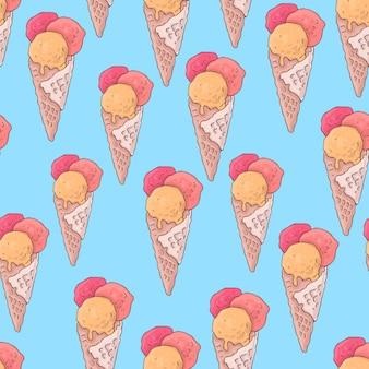 Patrón sin fisuras con helado de paleta