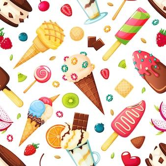 Patrón sin fisuras de helado