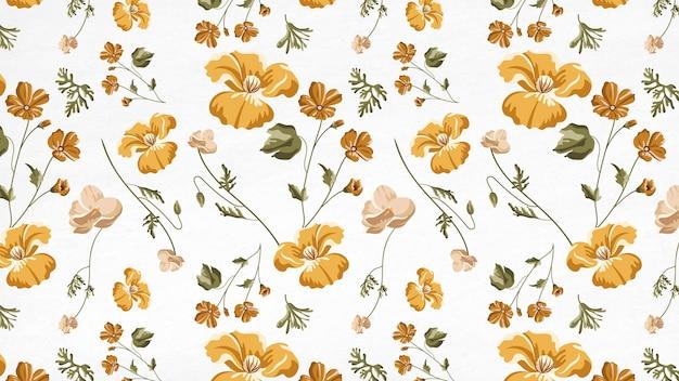 Patrón sin fisuras de hermosa flor amarilla