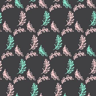 Patrón sin fisuras de la hoja de primavera. ilustración de vector de fondo enlosables de la planta de la naturaleza.