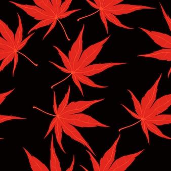 Patrón sin fisuras con hojas de otoño. gráficos.