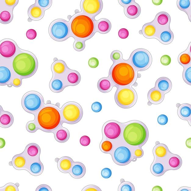 Patrón sin fisuras de hoyuelo simple. colorido juguete sensorial antiestrés, burbuja inquieta, revienta.