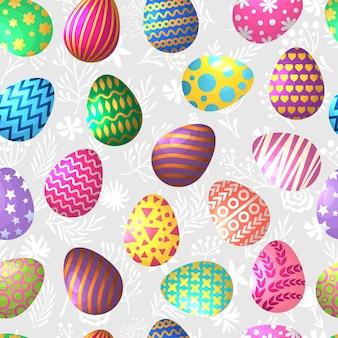 Patrón sin fisuras de los huevos de pascua de colores