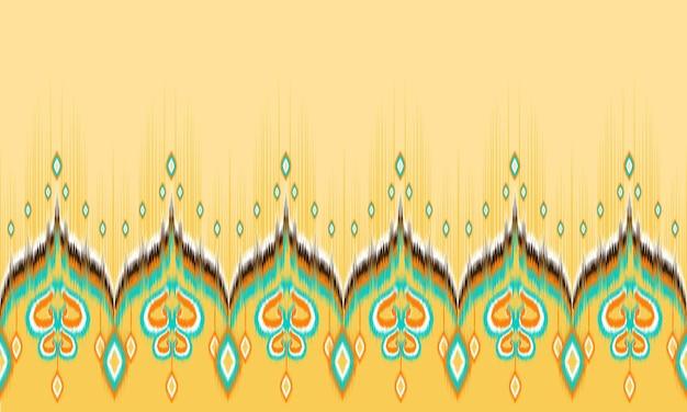 Patrón sin fisuras de ikat oriental étnico geométrico.