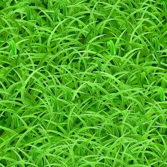 Patrón sin fisuras de ilustración de hierba verde fresca