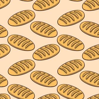 Patrón sin fisuras con ilustraciones de pan fresco. elemento para póster, papel de regalo. ilustración