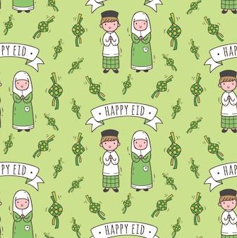 Patrón sin fisuras islámica