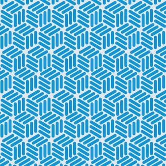 Patrón sin fisuras de líneas azules
