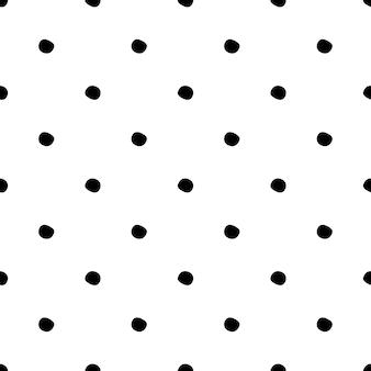 Patrón sin fisuras con lunares sobre fondo blanco.