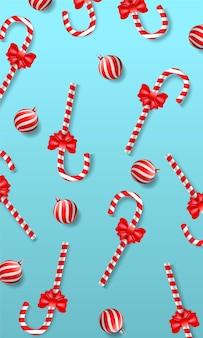 Patrón sin fisuras de la navidad del bastón de caramelo