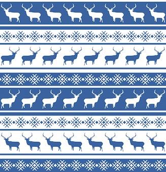 Patrón sin fisuras de navidad con ciervos.