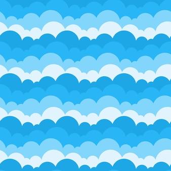 Patrón sin fisuras de nubes de cielo azul