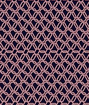 Patrón sin fisuras de nudo de cuerda