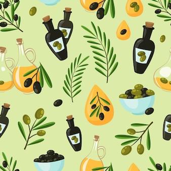 Patrón sin fisuras de oliva