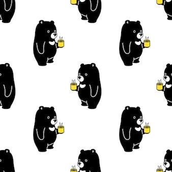 Patrón sin fisuras de oso polar