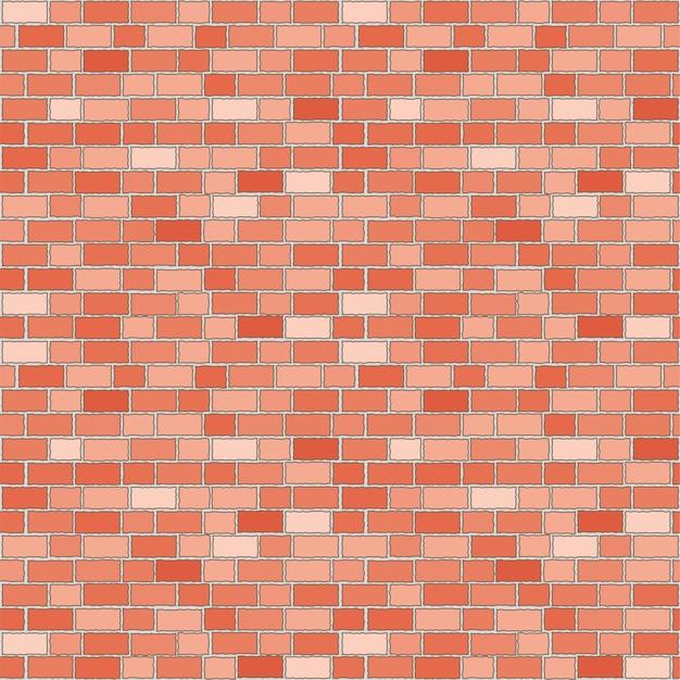 Patrón sin fisuras de la pared de ladrillo rojo