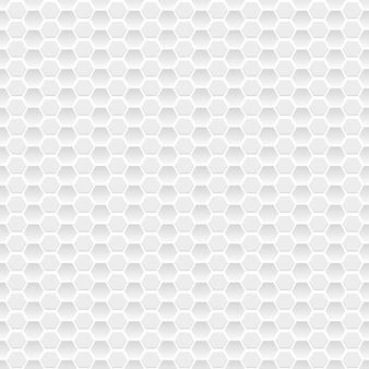 Patrón sin fisuras de pequeños hexágonos en colores grises
