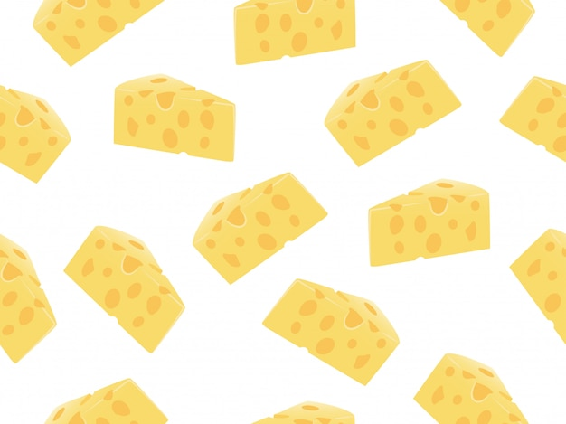 Patrón sin fisuras de la rebanada de queso
