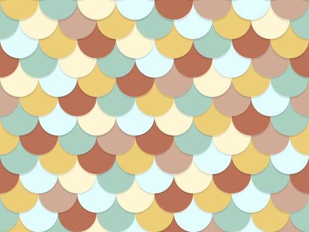 Patrón sin fisuras de superposición círculo color pastel