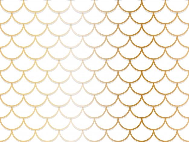 Patrón sin fisuras de superposición de círculo de oro y blanco