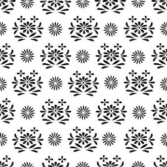 Patrón sin fisuras de textura blanco y negro