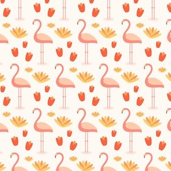 Patrón de flamenco colorido