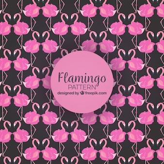 Patrón de flamencos en estilo acuarela