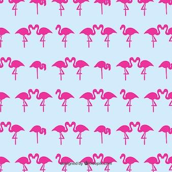 Patrón flamencos rosados