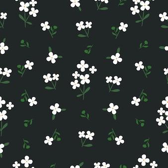 Patrón de flor blanca pequeña transparente
