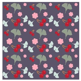 Patrón de flor de cerezo floral púrpura / fondo
