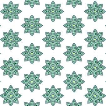 Patrón de flor complejo verde