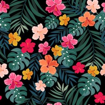 Patrón de flor hermosa