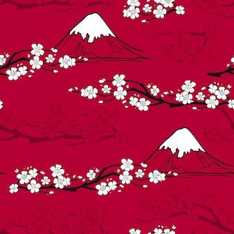 Patrón de flor japonés