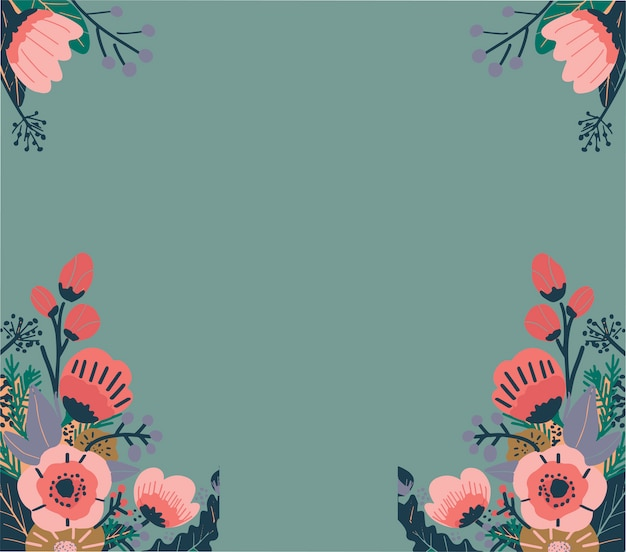 Patrón floral abstracto colorido. vector de fondo sin fisuras