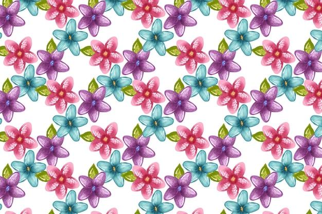 Patrón floral abstracto pintado a mano